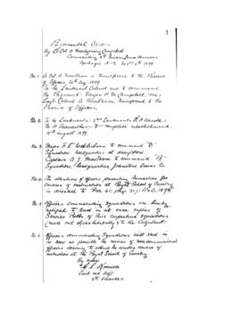 Regimental Orders (8th NB Hussars)