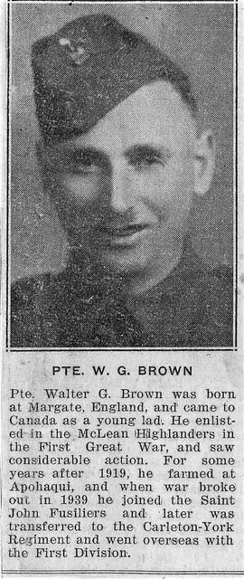 Brown, Walter G