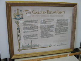 """The Canadian Bill of Rights"" , print"