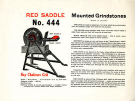 Red Saddle No. 444 Advertising Sample