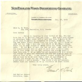 2/4 New England Wood Preserving Co. Letter