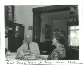 John & Pauline Alward in Dining Room
