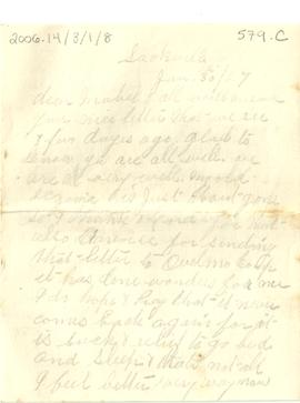 "Letter from ""Mother"" (Jennie Grace Snowdon Wry)"