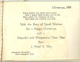Christmas Greeting from Pearl Wry