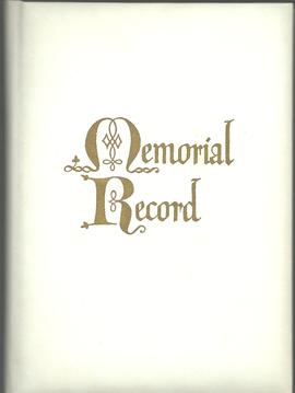 John B. Alward Memorial Record