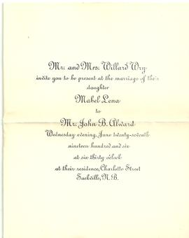 Alward Blank Wedding Invitation