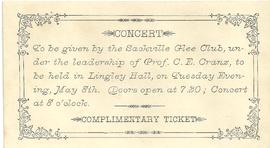 Sackville Glee Club Concert Ticket