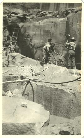 Men Working at Beaumont Quarry