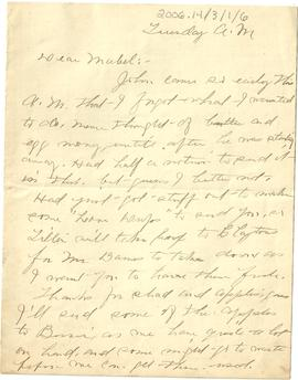 Letter from Aunt Mame to Mabel