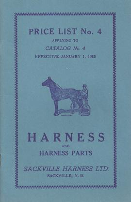 Sackville Harness Ltd. Price Booklet