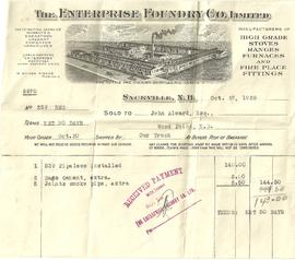 Receipt from Enterprise Foundry Co. Limited