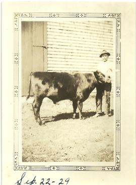 John Willard Wry with Cow