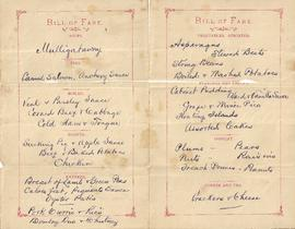 Pacific Mail Steamship Co. Bill of Fare