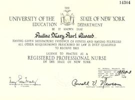 Certificate from University of the State of New York