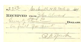 Receipt from G. A. Sparks