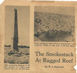 Smokestack at Ragged Reef Newspaper Article