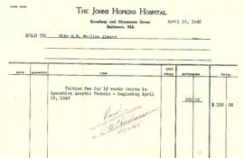 Pauline Alward Tuition Receipt