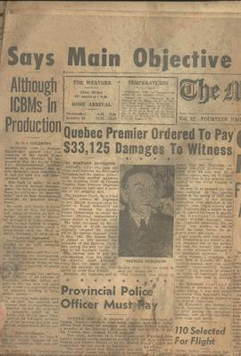 Moncton Daily Times 28 January 1959