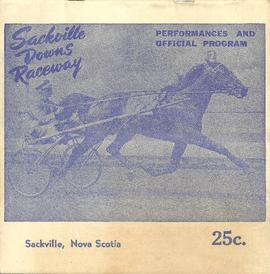 Sackville Downs Raceway Program 1956