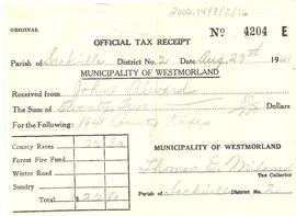 Wood Point Property Tax Receipt