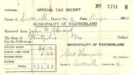 Property Tax Receipt
