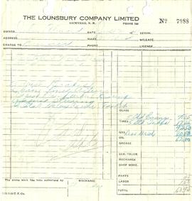 Invoice from Lounsbury Co