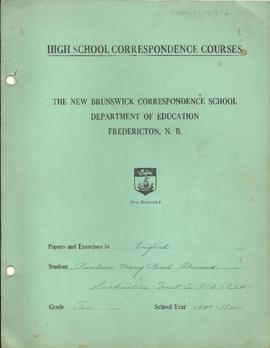 High School Correspondence Course Books and Schedule