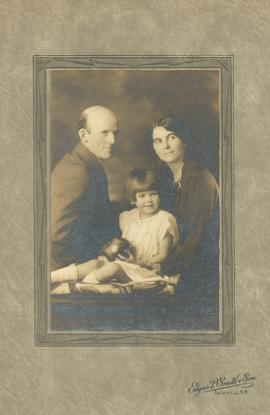 John, Mabel & Pauline Alward Family Portrait