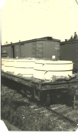Shipping Grindstone by Rail