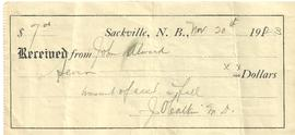 J. O. Caulkin Receipt