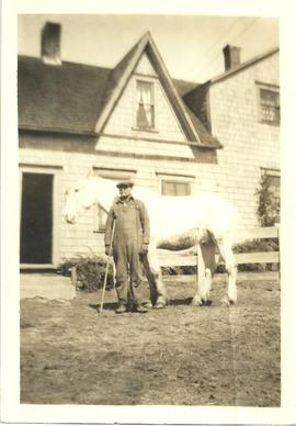 John Willard Wry with Horse by Isaac Wry's House